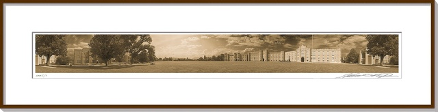 Sepia Panoramic View Virginia Military Institute Campus